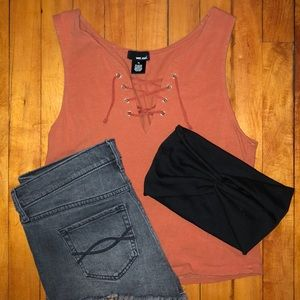 Wet Seal Lace Up Tank